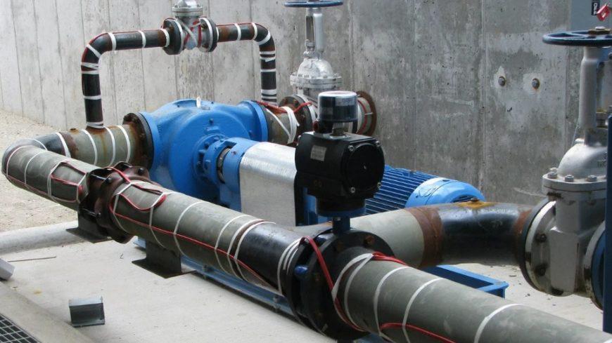 Обогрев трубопровода в сильные морозы